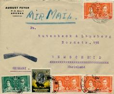 MOSHI / KENYA  UGANDA TANGANYIKA  - 10 NO 1937 , Luftpostbrief Nach Remscheid   -  Big Letter, Dispatch =  4,20 EURO - Kenia (1963-...)