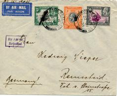 KENYA  UGANDA TANGANYIKA  - 22 MY 1935  , Luftpostbrief Nach Remscheid   -  Big Letter, Dispatch =  4,20 EURO - Kenia (1963-...)