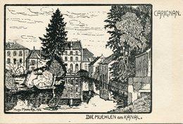 CARIGNAN.  Die Muehlen Am Kanal (illustrateur Allemand) - France