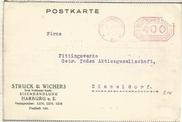 ALEMANIA 1923 HARBURG FRANQUEO MECANICO METER HIPER INFLACION - Covers & Documents