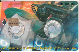 GIBRALTAR(chip) - 75th Anniversary Of Automatic Telephone Service(1926-2001) 2, Tirage 3000, Used - Gibraltar
