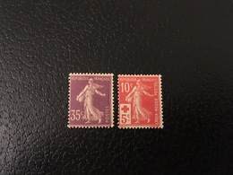 [1200] FRANCE Paire Timbres Type Semeuse N°136 Croix Rouge 147 ** MNH TB - France