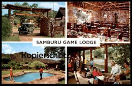 ÄLTERE POSTKARTE KENIA SAMBURU GAME LODGE ZEBRA FELL Kenya East Africa Afrika Postcard Cpa AK Ansichtskarte - Cebras