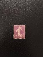 [1201] FRANCE Rare Timbre Type Semeuse N°136 IIA **/* Chiffres Maigres - France
