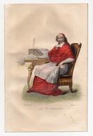Gravure 19ème Réhaussée Du Cardinal Mazarin Homme Politique Chasselat Del.Leclerc Sc - Prints & Engravings