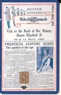 GIBRALTAR(chip) - 200th Anniversary Of Gibraltar Newspaper Chronicle 3, Tirage 3000, Used - Gibraltar