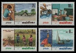 Malediven 1983 - Mi-Nr. 1031-1034 ** - MNH - Entwicklungsprogramm - Maldives (1965-...)