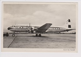 Vintage Rppc KLM K.L.M Royal Dutch Airlines Douglas Dc-6 @ Schiphol Amsterdam Airport - 1919-1938: Entre Guerres