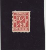 1906 N° 1 Lie De Vin DEMNAT A MARARRAKECH  NEUF AVEC CHARNIERE - Lokale Post