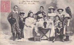 Une Noce De Gosses - 3 CPA 1904 - Circulée - (lot Pat 90/01 ) - Groepen Kinderen En Familie