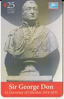 GIBRALTAR(chip) - Sir George Don, Tirage 5000, Used - Gibraltar