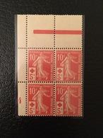 [1205] FRANCE Bloc De 4 Timbres N°147 Croix Rouge Red Cross Millésime 4 ** - France