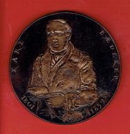 MEDAILLE BRONZE KARL BAEDEKER CELEBRE EDITEUR ALLEMAND DE GUIDES DE VOYAGE 1801 1859 GRAVEUR CORBIN RAYMOND - France