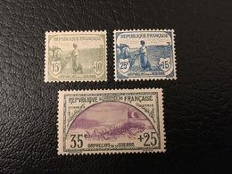 [1206] FRANCE 1ère Série Orphelin Guerre Timbres N°150 151 152 Tous ** MNH - France