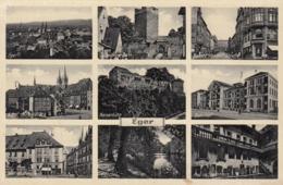 AK - Tschechien - Eger - Mehrbild - Mit Bahnhof Und Adolf Hitler Platz - 1940 - Tschechische Republik