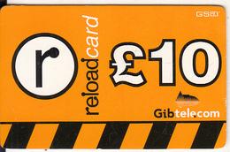 GIBRALTAR - Gib Telecom Prepaid Card 10 Pounds(thick Paper), No Exp.date, Used - Gibraltar