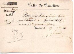 13 RASSUEN SEL BOUCHES DU RHONE SALIN SALINS - Historical Documents
