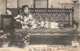 Chine Femme Chinoise Chinese Woman Cachet Shangai 1907 , Voir état Ci Dessous - Chine