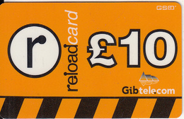 GIBRALTAR - Gib Telecom Prepaid Card 10 Pounds(plastic), Exp.date 02/05, Used - Gibraltar