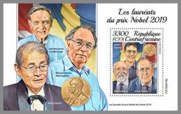CENTRALAFRICA 2019 MNH Nobel Prize Winners Nobelpreisträger Prix Nobel S/S - OFFICIAL ISSUE - DH1950 - Nobel Prize Laureates