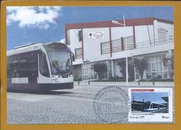 Metro De Superficie De Almada. Surface Metro Of Almada Railway. Oberflächen-Metro Der Almada. Postal Máximo Triplo. - Tranvie