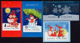 Finland - 2019 - Christmas - Mint Self-adhesive Stamp Set With Varnish And Hot Foil Printing - Finland