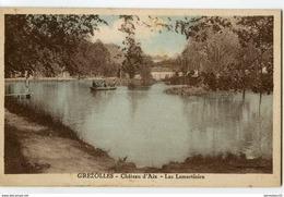 CPA (Réf : Q 842) GREZOLLES  (42 LOIRE) Château D'Aix - Lac Lamartinien (animée, Canotage) - Frankreich