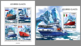 NIGER 2019 MNH Icebreakers Eisbrecher Brise-glace M/S+S/S - OFFICIAL ISSUE - DH1950 - Bateaux