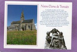 29 SAINT JEAN TROLIMON La Chapelle Notre Dame De Tronoën XVe Siècle Et Un Détail Du Calvaire - Saint-Jean-Trolimon