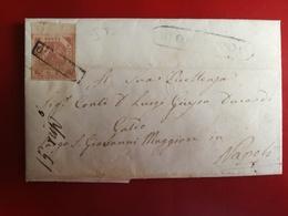 Napoli,antichi Stati,2 Grana,annullato,lettera Manoscritta,v2 - Naples