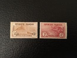 [1214] FRANCE Orphelin Timbres N°153 154 1 Franc + 1 Franc Marseillaise * - France