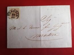 Lombardo Veneto,antichi Stati,30 C,,lettera Manoscritta,venezia,12-10-1856,v3 - Lombardy-Venetia