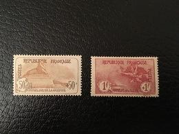 [1215] FRANCE Orphelin Timbres N°153 154 1 Franc + 1 Franc Marseillaise * - France