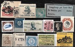 663 -  1880-1930 - WORLD WIDE SMALL SELECTION OF FORGERIES, FALSES, FALSCHEN, FAKES, FALSOS - Sammlungen (ohne Album)