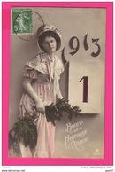 """CPA  (Réf : (PA193)  Bonne Et Heureuse Année 1913 """"beau Chapeau"""" - Nouvel An"""