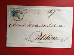 Lombardo Veneto,antichi Stati,45 Centes.,milano Per Cremona,13-6-55,rara,v5 - Lombardy-Venetia