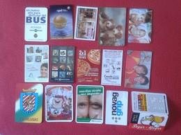 SPAIN LOTE DE 15 CALENDARIOS DE BOLSILLO PEQUEÑO TAMAÑO TEMAS VARIOS VARIADOS LOT OF CALENDARS CALENDAR SMALL SIZE - Calendarios