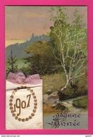 CPA  Gaufrée (Réf: Z2325) (FANTAISIES AUTRES) Calendrier 1907 Heureuse Année - Phantasie
