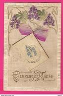 CPA  Gaufrée (Réf: Z2324) (FANTAISIES AUTRES) Calendrier 1907 Heureuse Année - Phantasie