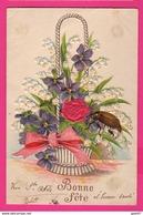 CPA GAUFRÉE (Réf: Z2301)   (THÈME FÊTES VŒUX) Bonne Fête Muguet Ancre - Feiern & Feste