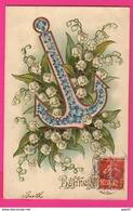 CPA GAUFRÉE (Réf: Z2300)   (THÈME FÊTES VŒUX) Bonne Fête Muguet Hanneton - Autres