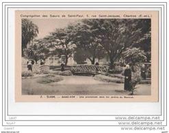 CPA - Siam - Bang-kok - Une Promenade Dans Les Jardins Du Noviciat - (Asie/thailande) - (ref 268) - Thaïlande