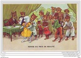 CPA - Illustrateur - Remise Du Prix De Beauté Chiens Humanises  Habilles- (ref A102) - Gekleidete Tiere