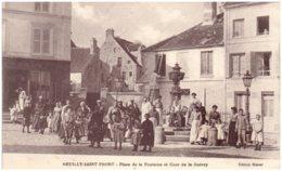 02 NEUILLY-SAINT-FRONT - Place De La Fontaine Et Cour De La Guivry - Autres Communes