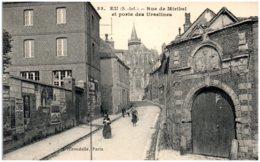 76 EU - Rue De Miribel Et Porte Des Ursulines - Eu