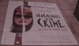 AFFICHE CINEMA ORIGINALE FILM GENEALOGIES D'UN CRIME Raoul RUIZ Catherine DENEUVE PICCOLI POUPAUD 1997 - Plakate & Poster