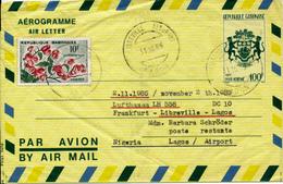 LIBREVILLE / Gabun -  1985 , Aerogramme / Air Letter  - LH 558  Libreville - LAGOS - Gabón (1960-...)