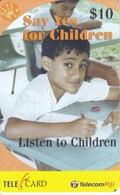 TARJETA DE FIJI DE $10 DE SAY YES FOR CHILDREN - Fiji