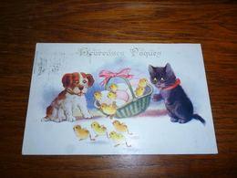 Carte Postale Fantaisie Illustrateur Jos ? Chat Chaton Kat Cat   Poussin Comique Series Chien - Chats