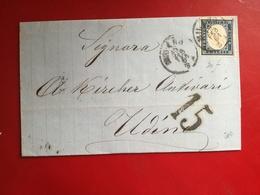 Sardegna,antichi Stati,20 Centesimi ,su Lettera Manoscritta,colore Raro,interessanti Timbri,v10 - Sardinia